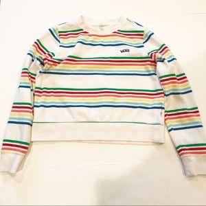 Vans Retro Rainbow Striped Sweatshirt